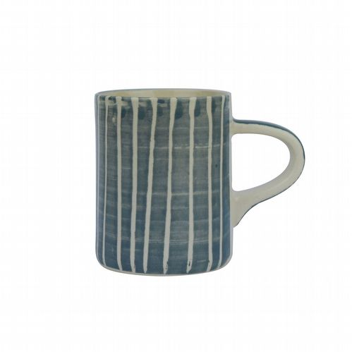 Ceramic Espresso Cup - Striped - Grey